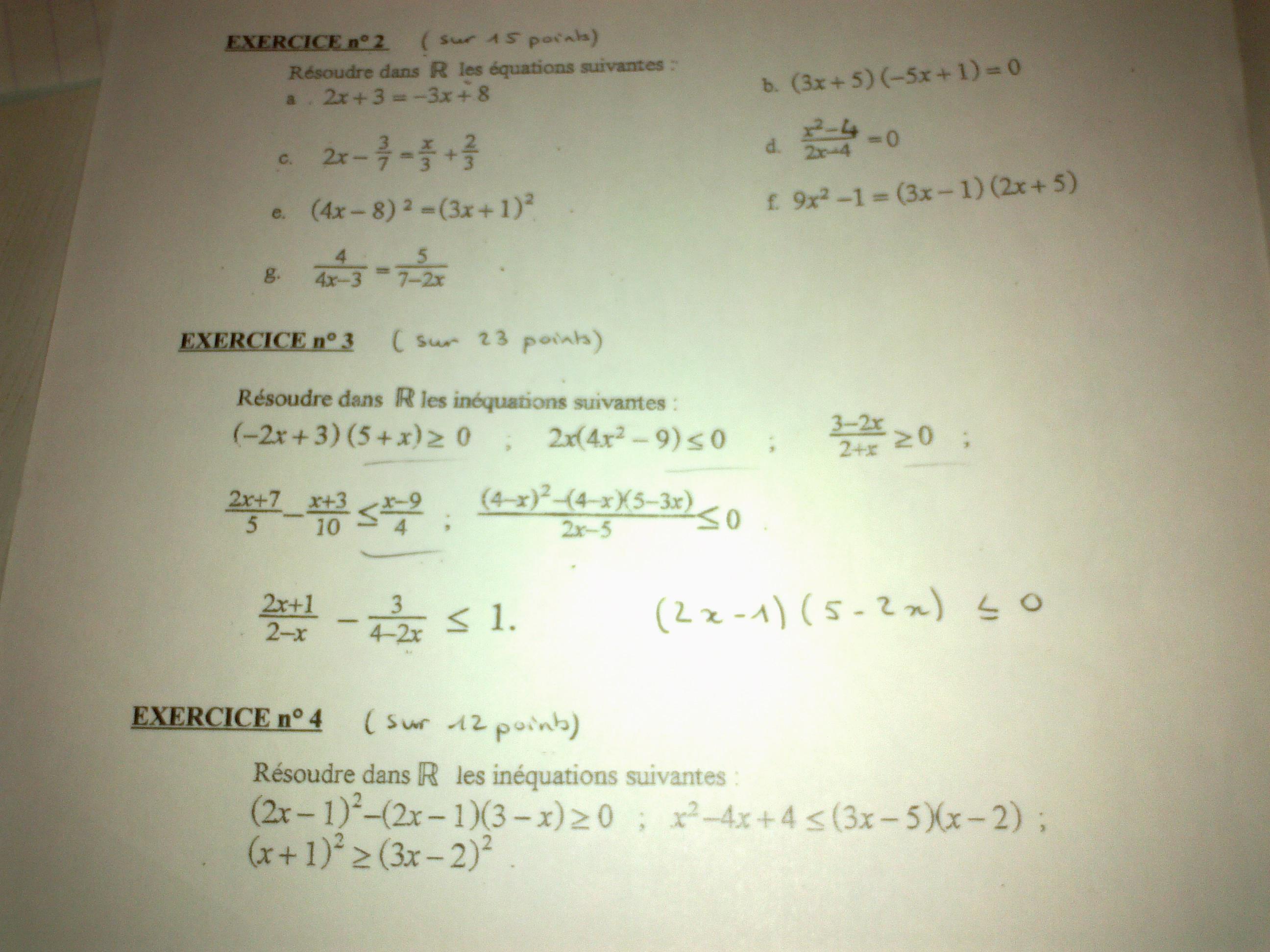 corrige dm de maths seconde